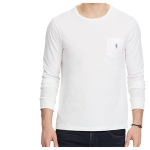 POLO RALPH LAUREN Long Sleeve White T-Shirt Tee